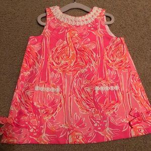 Lilly Pulitzer flamingo shift dress set 18-24mo